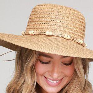 Justin & Taylor Accessories - Boho Beaded Sun Hat